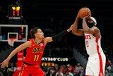 NBA rekordas: T.Youngas ir J.Hardenas kartu atliko po 40 taškų trigubą dublį