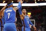 C.Anthony įsirašė į NBA istoriją, R.Westbrookas atliko trigubą dublį, A.Robersonas patyrė kraupią traumą
