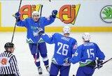 Slovėnai grįžta į elitinį pasaulio ledo ritulio čempionato divizioną, italų likimas paaiškės vėliau (papildyta)