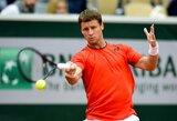 """Stebuklas neįvyko: R.Berankis sutriuškintas """"Roland Garros"""" starte"""