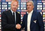 """""""Lazio"""" direktorius: """"Mes galime laimėti """"Serie A"""""""