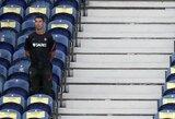 Pamatykite: C.Ronaldo rungtynių metu sulaukė priminimo dėvėti kaukę