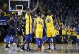 """""""Warriors"""" pirmą kartą įveikė """"Thunder"""" klubą"""
