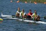 Lietuvos keturvietininkai buvo arti vietos pasaulio jaunimo irklavimo čempionato A finale