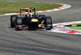 """""""Red Bull"""" ekipos pilotai nerimauja dėl prasto bolido tempo Monzoje"""