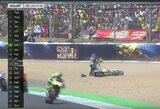 """""""MotoGP"""" lenktynėse motociklininkai vos nesusimušė, pergalę iškovojo D.Pedrosa"""