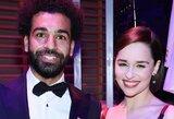 """J.Kloppas pavydi, jog M.Salah susitiko su """"Sostų karų"""" žvaigžde E.Clark"""