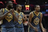 """Po skaudaus pralaimėjimo """"Clippers"""" K.Durantas buvo įsiutęs: rūbinę paliko tarsi uraganas"""