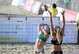 Europos jaunių paplūdimio tinklinio čempionate visos Lietuvos poros įsirašė pirmąsias pergales