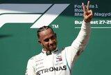L.Hamiltonas triumfavo Vengrijoje, V.Bottas susidūrė su S.Vetteliu