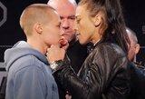 """""""UFC 223"""": C.Nurmagomedovas ir M.Holloway išreiškė vienas kitam pagarbą, R.Namajunas lygino save su medžiu"""