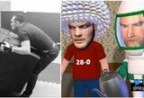 C.Nurmagomedovas pasijuokė iš T.Fergusono treniruotės, garsus animatorius komiškai pažvelgė į bendrą situaciją