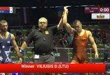 D.Viliušis išsaugojo galimybę kovoti dėl Europos jaunimo imtynių čempionato bronzos