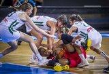 Lietuvos U16 merginų rinktinė Europos čempionate patyrė pirmąją nesėkmę