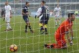 """T.Krapikas su """"Sampdoria"""" pralaimėjo, D.Mertensas pakartojo 21 metų rekordą"""
