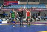 D.Viliušiui nepavyko patekti į Europos jaunimo imtynių čempionato mažąjį finalą