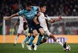 """Italija: lygiosiomis su """"Juventus"""" sužaidusi """"Atalanta"""" aplenkė sutriuškinimą patyrusius """"Inter"""""""
