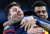 """Čempionų lygoje - """"Milan"""" ekipą sutriuškinusi """"Barcelona"""" keliauja į kitą etapą"""