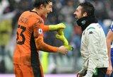 """""""Juventus"""" treneris džiaugėsi sugrįžusiu C.Ronaldo, debiutavęs 18-metis vartininkas buvo šokiruotas ir norėjo skambinti mamai"""