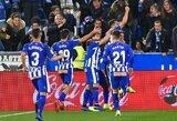 """Ispanija: pergalę iškovoję """"Alaves"""" įsitvirtino šeštoje pozicijoje"""