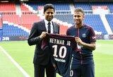 Neymaras oficialiai pristatytas tūkstančiams PSG fanų