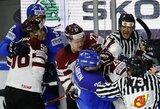 Dramatiška latvių pergalė pažymėta muštynėmis ir pralietu krauju