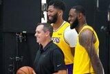 """Lakers"" treneris numato daugiau poilsio L.Jamesui"