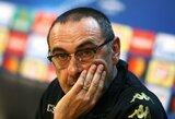 """Situacijos įkaitas: """"Napoli"""" reikalauja iš """"Chelsea"""" milžiniškos kompensacijos už vietos klube jau nebeturintį M.Sarri"""