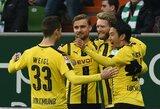 """""""Borussia"""" po žiemos pertraukos sugrįžo pergalingai, kitose komandose išsiskyrė naujokai"""