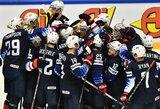 Dramatiškose pasaulio čempionato atidarymo rungtynėse amerikiečiai po baudinių serijos įveikė Kanados rinktinę