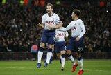 """H.Kane'o įvartis suteikė """"Tottenham"""" pranašumą """"Carabao"""" taurės pusfinalyje prieš """"Chelsea"""""""