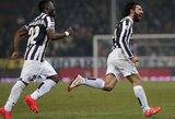 """18-metis V.Slivka """"Juventus"""" klubo pergalę prieš """"Genoa"""" stebėjo nuo atsarginių žaidėjų suolelio"""