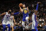 Sugrįžusio S.Curry taškų pergalei nepakako