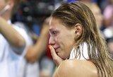 """Prieš 100 m krūtine finalą sirgalių nušvilpta J.Jefimova: """"Nepamenu, kada paskutinį kartą gerai miegojau. Šis medalis man reiškia daugiau nei kiti"""""""