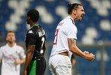 """Z.Ibrahimovičiaus pelnytas dublis padovanojo """"AC Milan"""" pergalę"""