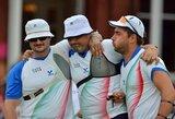 Dramatiškame Londono olimpiados finale – Italijos šaudymo iš lanko komandos triumfas