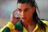Trišuolininkė D.Kilty – per 3 cm nuo pasaulio čempionato finalo