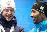 Kuriozas biatlono pasaulyje: M.Fourcade'as gavo sau nepriklausantį pasaulio taurės trofėjų