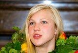 Į Lietuvą trumpam grįžusi olimpinė čempionė R.Meilutytė treniruosis ir Vilniuje