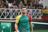 Lietuvos tenisininkams baigta skirstyti 235 tūkst. eurų vertės finansinė parama