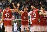 """Mačo pabaigoje spurtavusi """"Emporio Armani"""" patiesė Graikijos čempionus"""