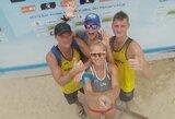 Lietuvos paplūdimio tinklininkai Kinijoje žengė į atkrintamąsias varžybas
