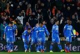 """Ispanijos taurė: """"Getafe"""" pirmose ketvirtfinalio rungtynėse įveikė """"Valencia"""""""