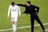 """D.Simeone užstojo raudoną kortelę užsidirbusį F.Valverde: """"Jis padarė tai, ką turėjo"""""""