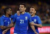 Jau 10 sekundę įvartį pelnę brazilai sutriuškino Australijos rinktinę