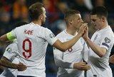 Europos čempionato atrankoje – triuškinančios Anglijos ir Prancūzijos rinktinių pergalės