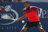 """N.Kyrgios jau pirmajame """"US Open"""" turnyro rate pateikė staigmeną (visi rezultatai)"""