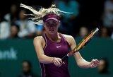 Finaliniame metų WTA turnyre E.Svitolina tapo vienvalde grupės lydere