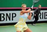 A.Paražinskaitė pirmos kategorijos jaunių teniso turnyre iškopė į aštuntfinalį