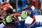 Lietuvės nepateko į pasaulio biatlono čempionato persekiojimo lenktynes, auksą iškovojo G.Koukalova